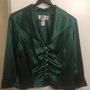 Emerald green waist top
